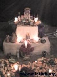 Ofrenda Mictiuh de noche